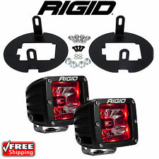 Rigid Radiance LED Fog Light Kit Red Backlight for Toyota Tundra Tacoma 20202
