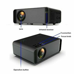 4K 1080P LED Smart Home Theater Projector Android IOS HD Wifi 3D Video Movie