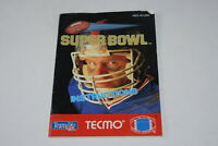 Tecmo Super Bowl Nintendo NES Video Game Manual Only