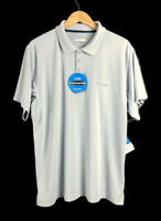 Columbia City Voyager Polo Shirt Men's Size XL Pale Blue Sun Protection Wicking