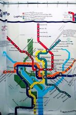 Washington DC Transit Map Subway Train Gift Decoration Decor Shower Curtain