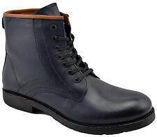 $230 OVATTO Blue Calf Leather Ankle Boots Men Shoes NEW COLLECTION