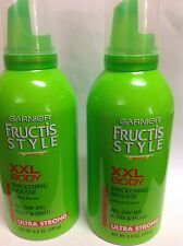 4 X Garnier Fructis Style XXL Body Thickening Mousse, Ultra Strong Hold NEW.