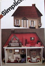 "Vtg 80s Doll House Pattern 2 Story dollhouse 20"" x 27"" furniture"