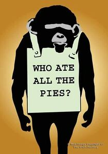 Who Ate All The Pies Card - MonkeySign Designer  MS019 - Blank Card