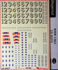 BGM-350006 Begemot decals 1/350 WWII US Navy Flags and Markings decal sheet