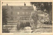 27 MONTREUIL-L' ARGILLE CARTE POSTALE CASCADE DU MOULIN 1938