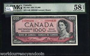 CANADA 1000 1,000 DOLLARS P83 1954 1973-1984 PMG58 QUEEN LANDSCAPE UNC BANK NOTE