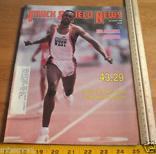 Track and Field News Oct 1988 Butch Reynolds 400 record cover Reebok shoes