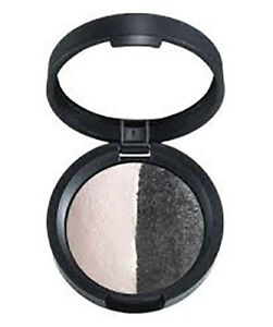 Laura Geller Baked Color Intense Eye Shadow Duo. Colour: Marble/Midnight