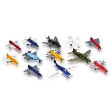 Metal Die cast Toy Airplane Set Of 12 Military Toy Planes and Jets.