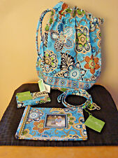 New Vera Bradley Bali Blue Ditty Bag/Lanyard/Photo Album/Card Holder (Lot of 4)
