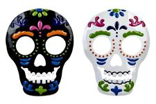 Carnival Day of the Dead Skull Metal Votive Candle Holder NEW Halloween