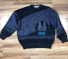 ST CROIX Men's XL Extra Large Bill Cosby Crewneck Ugly Sweater Wool Blend