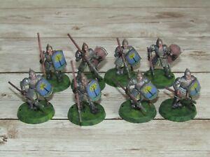 Games Workshop Gondor Spearmen Miniatures Lord of the Rings Warhammer x 8