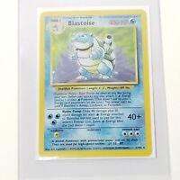 Pokemon Blastoise Base Set Unlimited Rare Holographic Card 2/102 Holo Foil NM