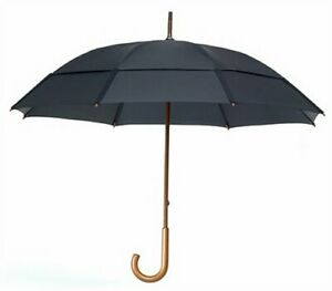 "GustBuster Doorman 68"" Windproof Umbrella, Double Canopy, Black"