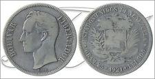 Venezuela Monete circolazione- Anno: 1921 numero Y00024.2-21 BC 5 Bolivares