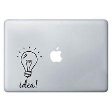 Light bulb idea sticker apple macbook laptop decal art graphic vinyl funny mural