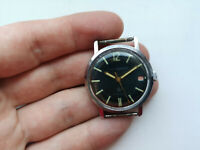 Early RARE USSR WATCH KOMANDIRSKIE  ZAKAZ MO CCCP CHISTOPOL Black Serviced