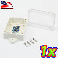 Small IP65 ABS Plastic Box Enclosure Clear Project Case 88x58x33mm - Waterproof