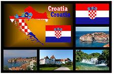 CROATIA MAP / FLAG / SIGHTS - SOUVENIR NOVELTY FRIDGE MAGNET - BRAND NEW - GIFT