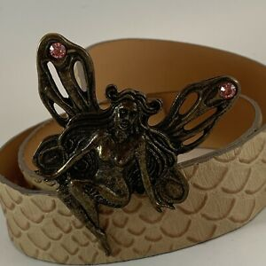 Just Cavalli 100% Leather Fairy Sprite Buckle Women's Belt US 30 IT 95 Italy