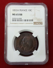 Napoleon III 10 Centimes 1853 A Paris F.133/2 NGC MS 65 RB
