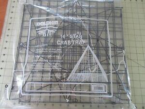 1 DOLPHIN LARGE BIG STAR CRAB TRAP 16 X16  BRAND NEW FOLDING PYRAMID TRIANGLE