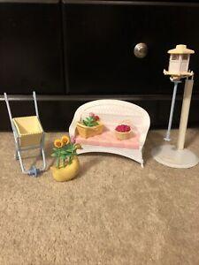 Mattel Barbie Playset Light-Up Summer Garden Set 1999 Repl Pcs Couch Accessories