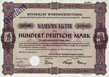 BayWa AG München 1960 Erding Agrar Landhandel 100 DM Dresden Dortmund Straubing