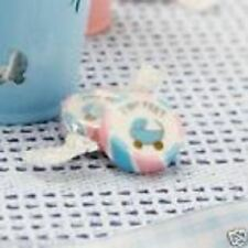 Baby Shower Bautizo Fiesta Tiny Feet Rosa y Azul 25 Rock Dulces Favores