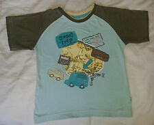 BOYS PUMPKIN PATCH T SHIRT AGE 6 YEARS BLUE CAMPERVAN ABSOLUTELY IMMACULATE