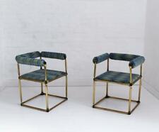 Pair of Custom Tubular Brass Studio Armchair After Verner Panton, 1970s