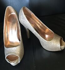 Chinese Laundry Women Shoes Heels Haley Peep Toe Pumps Pewter 6.5