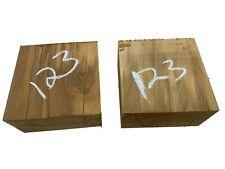 "2 PACK, Beautiful Olivewood Turning Blank/Bowl Blank/Blocks 4""x4""x2"", #123"