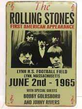 Rolling Stones American Apariencia Vintage Retro Metal Sign Home Studio pub