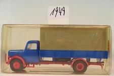 Brekina 1/87 41000 Magirus Eckhauber LKW ohne Beschriftung blau OVP #1949
