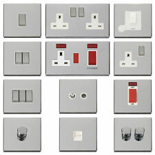 Chrome 1-Gang Plug Socket Home Electrical Fittings
