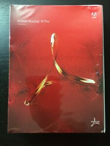 Adobe Acrobat XI Pro Windows New Sealed Retail Box DVD Single PC User License