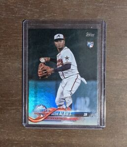 2018 Topps Update Ozzie Albies Rainbow Foil RC Rookie Braves PSA Nice