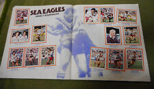 #T90. 1983  MANLY SEA EAGLES  RUGBY LEAGUE STICKERS ON ALBUM PAGES