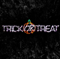 """Trick or Treat"" Hanging Sign Outdoor LED Lighted Decoration Steel Wireframe"
