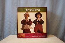 Set Of 2 Pilgrim Children Family Blessings, Cracker Barrel Home Decor