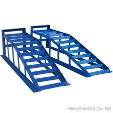 2x Auffahrrampe Rampe PKW bis 225er Räder extra breit blau je 2000 kg