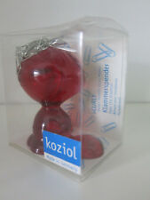 "Koziol ""Curly"" Paper Clip Dispenser - Transparent/Red BNIB"