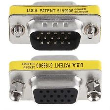 15 Pins HD SVGA VGA male to Female gender changer adapter Connector Convertor LN