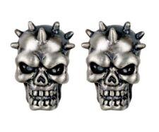 Evil Skull Spike Stud Earrings