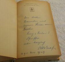Vintage Oskar Maria Graf Die Eroberung Der Welt 1945 Signed Book In German Desch