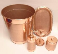 rose gold bathroom accessories. NEW 5 PC COPPER ROSE GOLD METAL SOAP DISPENSER TRAY TOOTHBRUSH TRASH Unbranded Gold Bath Accessory Sets  eBay